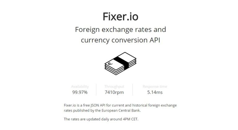 Foreign exchange rates and currency conversion API